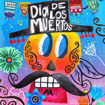 Day Dead Muertos Mexico Dia Dari Luna Ofrenda