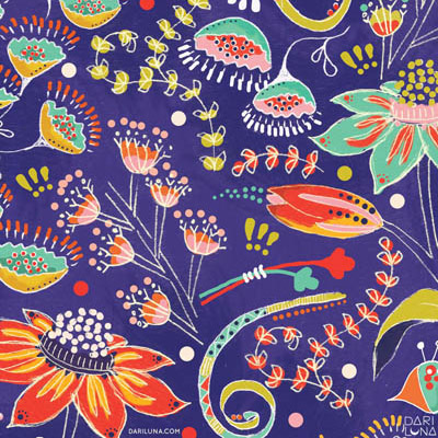 Flowers Pattern Surface Textile